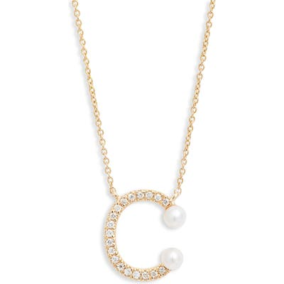Dana Rebecca Designs Pearl Ivy Initial Necklace