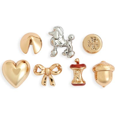 Tory Burch Holiday Charm Set Of 7 Stud Earrings