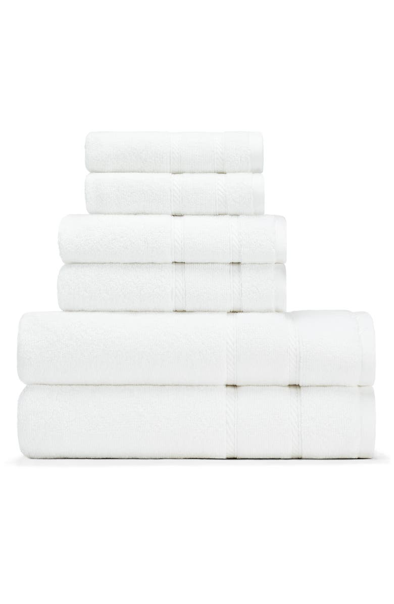 NAUTICA Belle Haven Bath Towel, Hand Towel & Washcloth Set, Main, color, WHITE