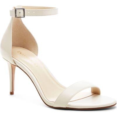 Enzo Angiolini Ahmber Ankle Strap Sandal, White