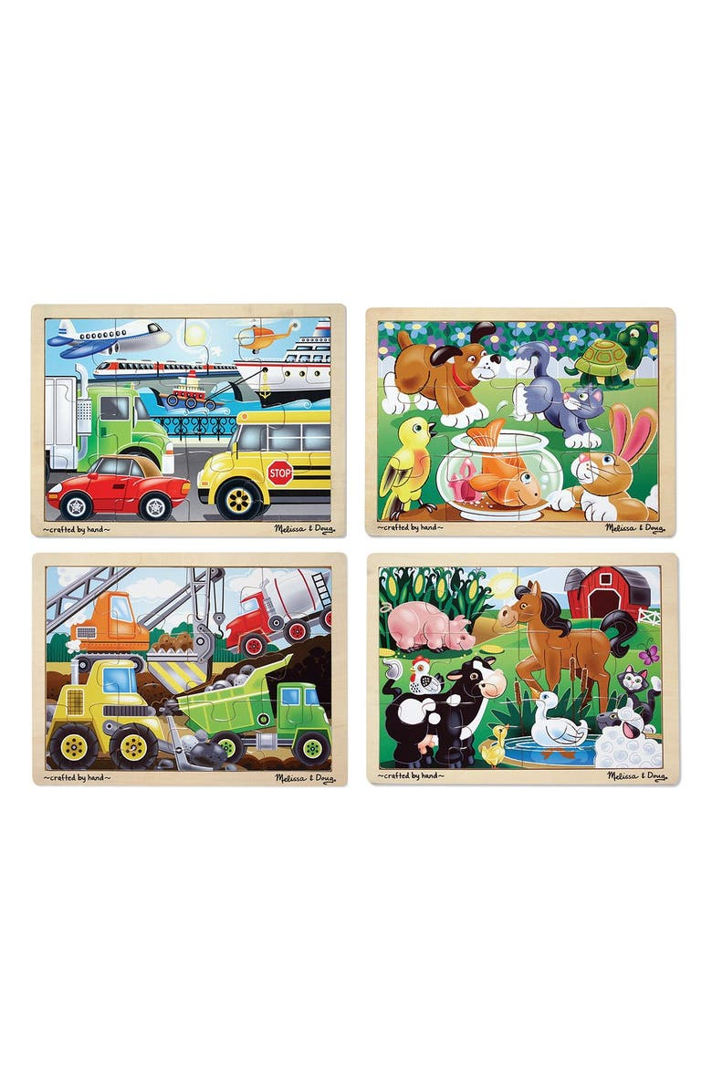 MELISSA & DOUG Jigsaw Puzzle Set, Main, color, BROWN