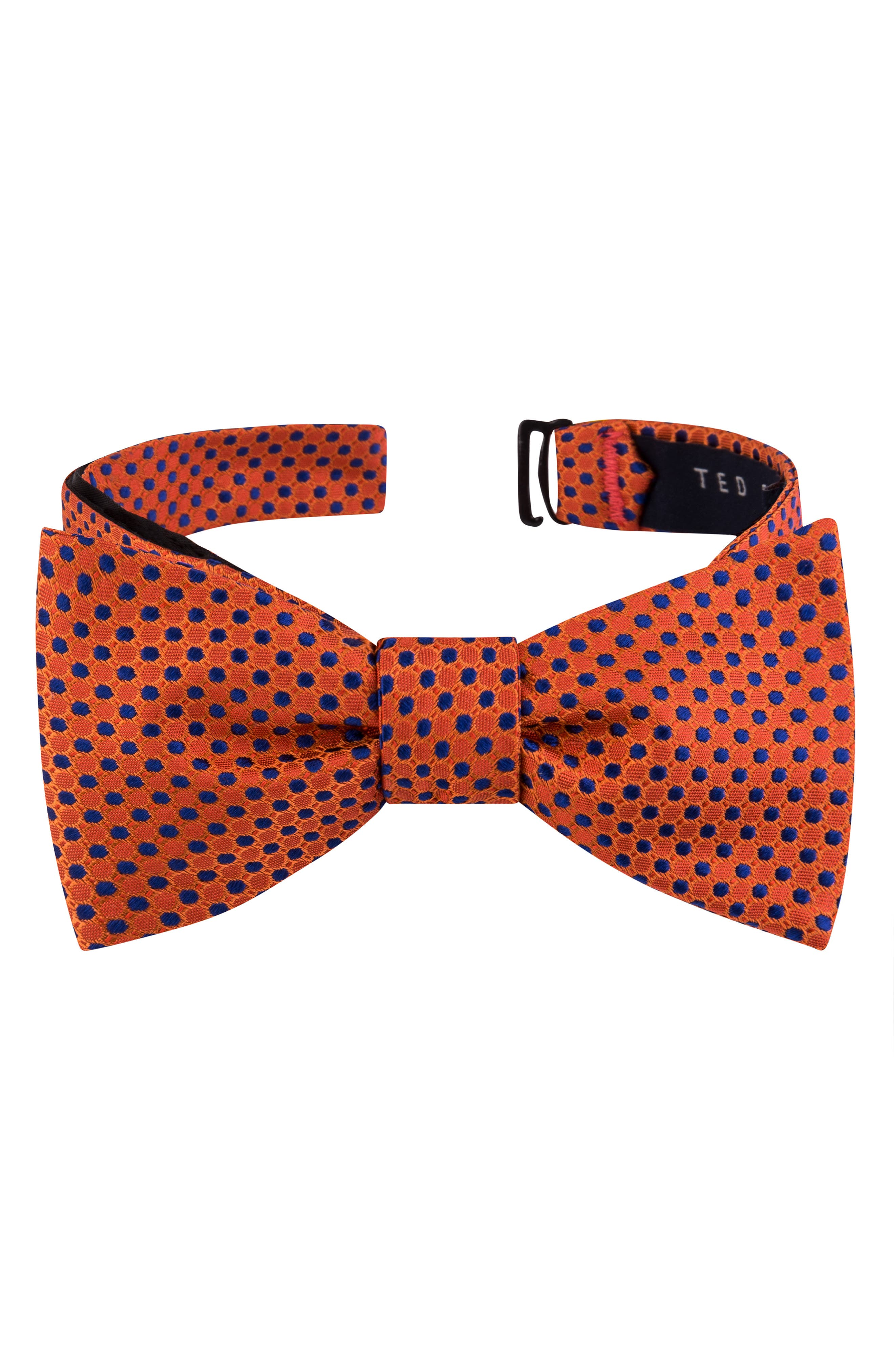 Men's 1920s Style Ties, Neck Ties & Bowties Mens Ted Baker London Dot Silk Bow Tie Size One Size - Orange $59.50 AT vintagedancer.com