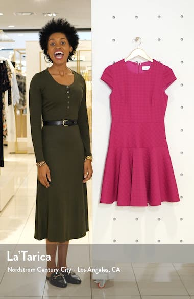 Jacquard Knit Fit & Flare Dress, sales video thumbnail