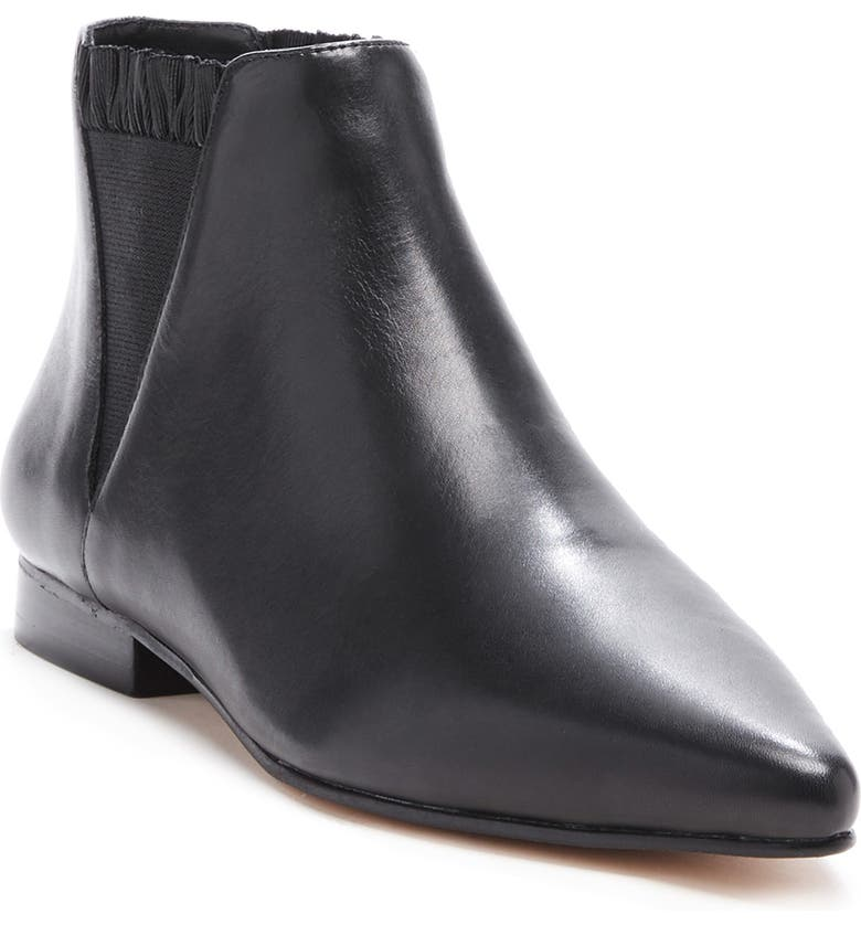 SOLE SOCIETY Keesha Chelsea Boot, Main, color, BLACK LEATHER