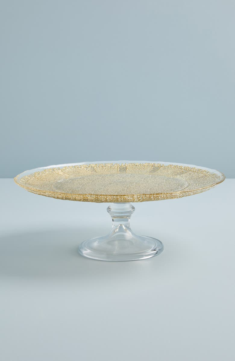 ANTHROPOLOGIE Sarah Cake Stand, Main, color, GOLD