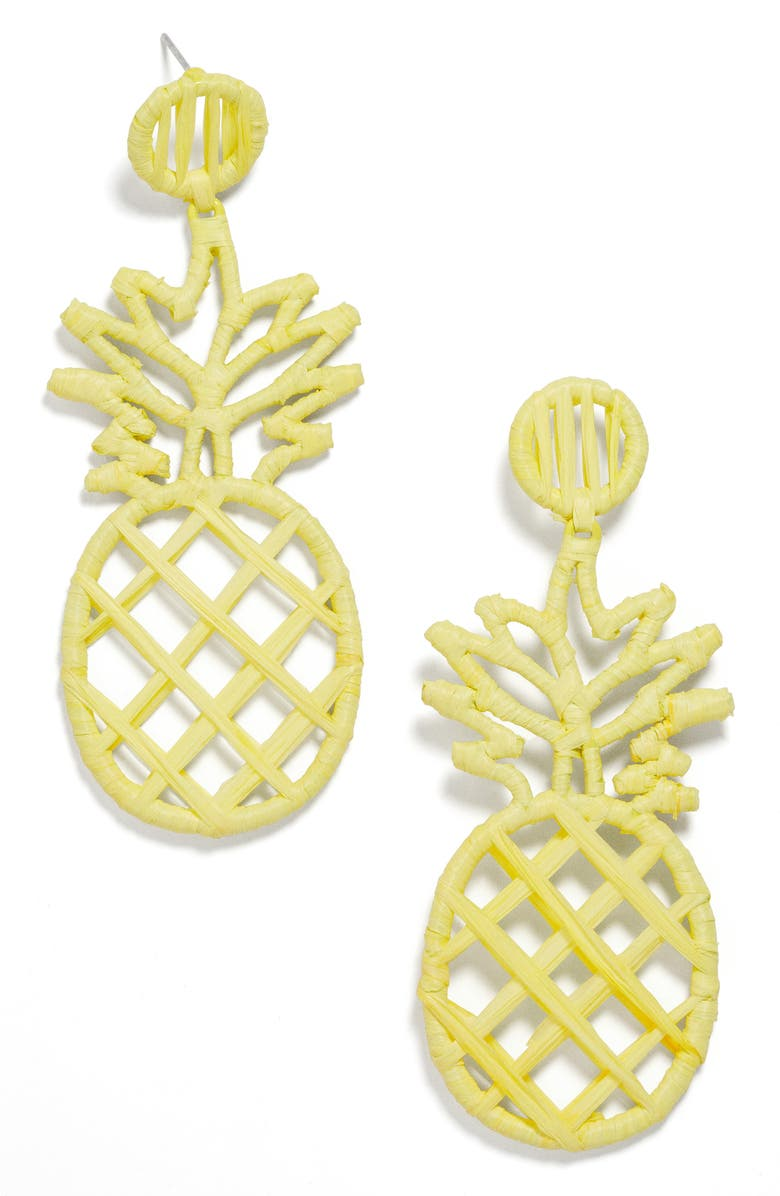 BAUBLEBAR Bermuda Drop Earrings, Main, color, YELLOW
