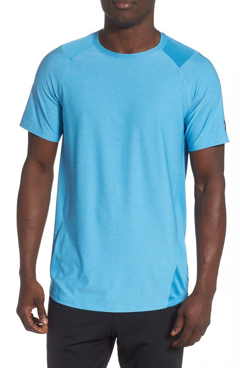 UNDER ARMOUR Raid 2.0 Crewneck T-Shirt, Main, color, ETHER BLUE/ ACADEMY