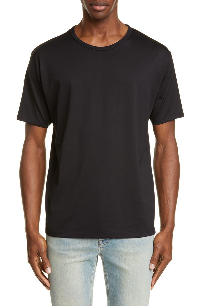 ACNE STUDIOS Niagara Crewneck T-shirt, Main, color, BLACK