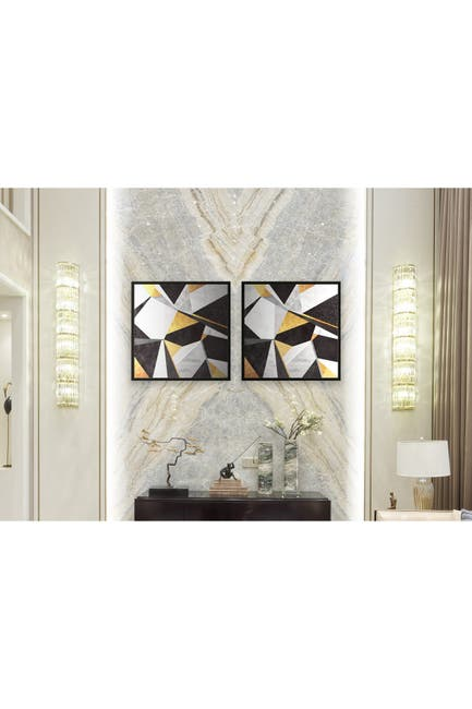 "Image of Chic Home Bedding Geo France 2-Piece Wall Art - 15.5""x31"""