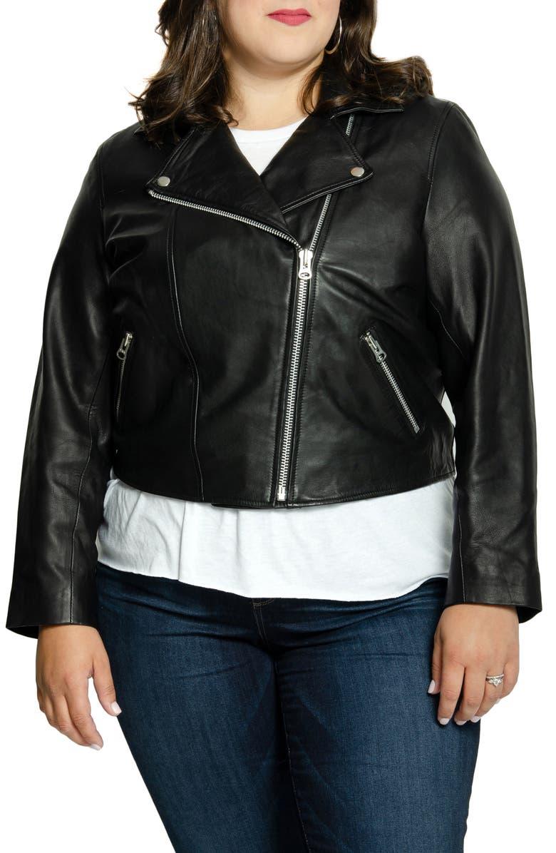 ALL 67 Lifetime Leather Moto Jacket, Main, color, BLACK