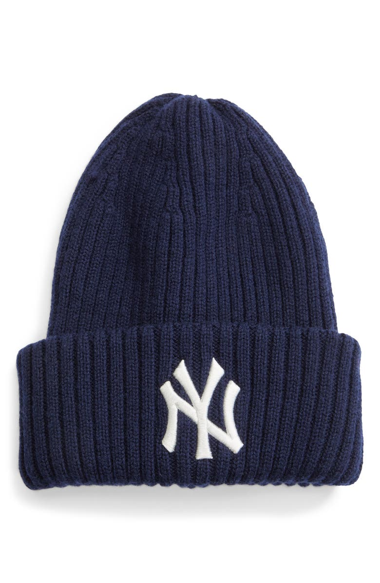NEW ERA CAP BEAMS x New Era New York Yankees Knit Beanie, Main, color, NAVY
