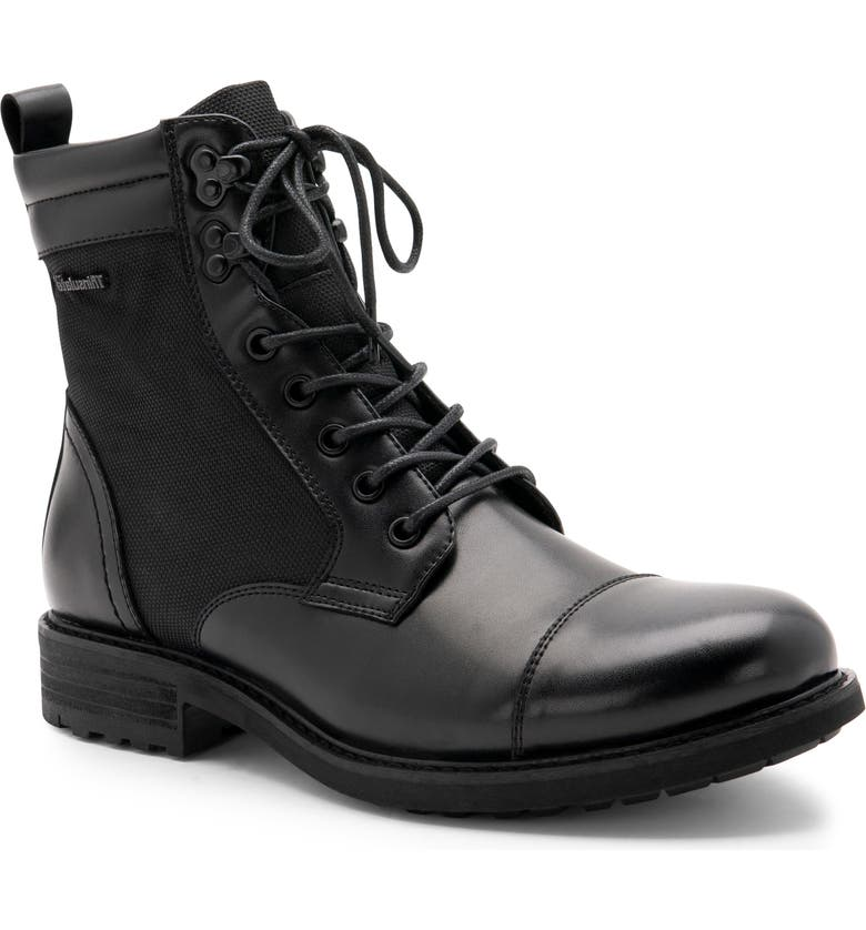 BLONDO Paxton Waterproof Cap Toe Boot, Main, color, BLACK LEATHER