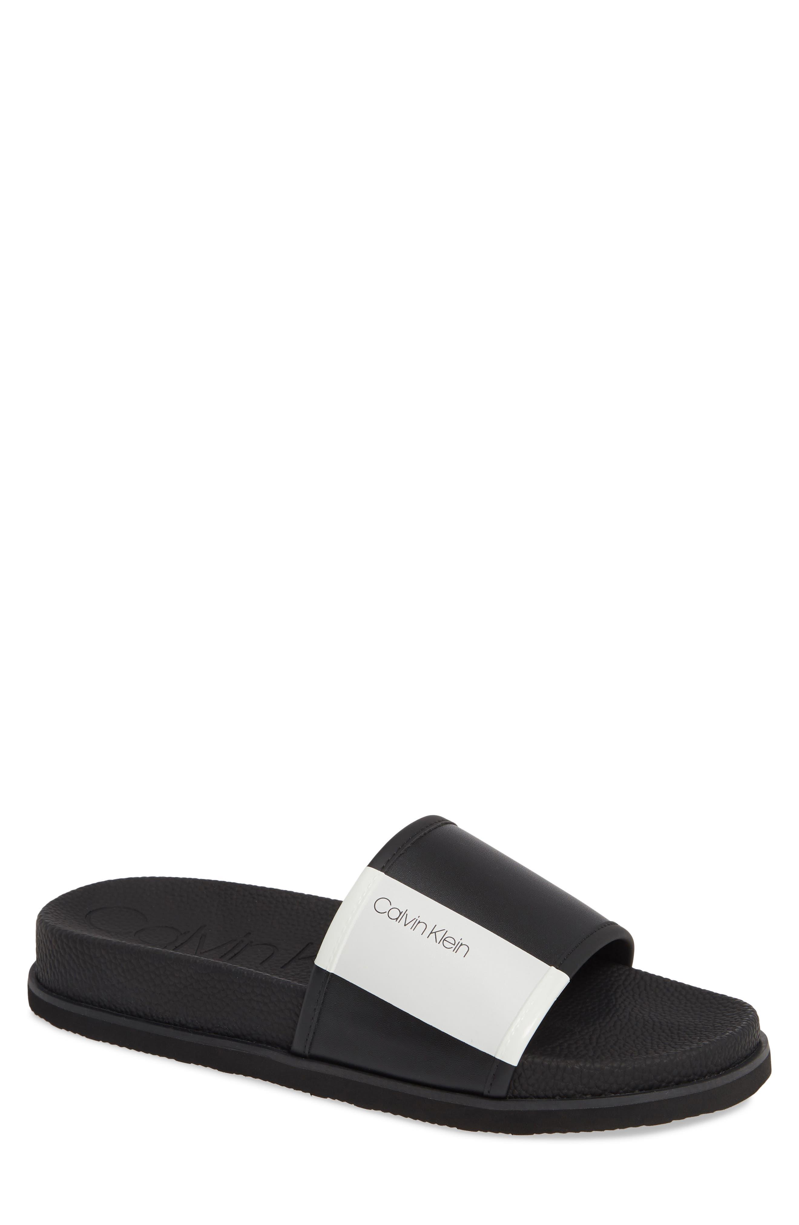 ,                             Mackee Slide Sandal,                             Main thumbnail 1, color,                             BLACK