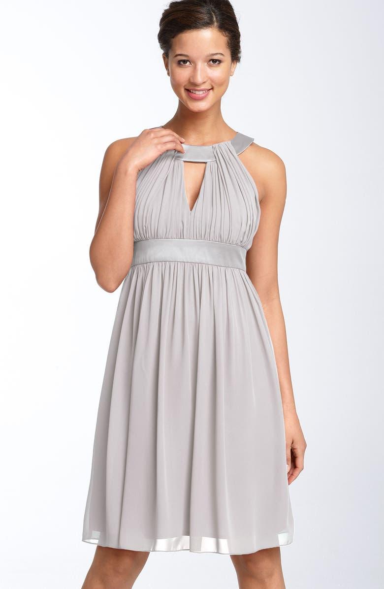 MAGGY LONDON Keyhole Chiffon Dress, Main, color, 040