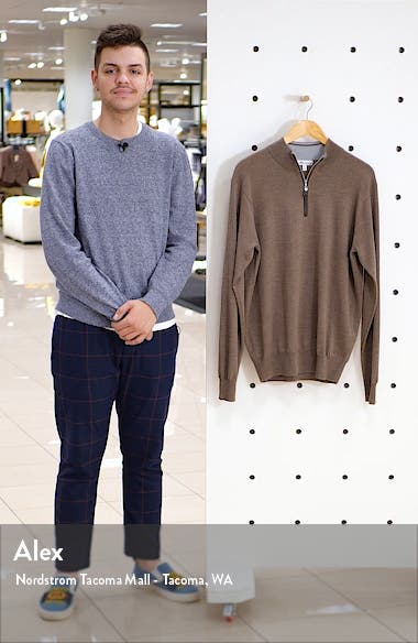 Crown Soft Wool Blend Quarter Zip Sweater, sales video thumbnail