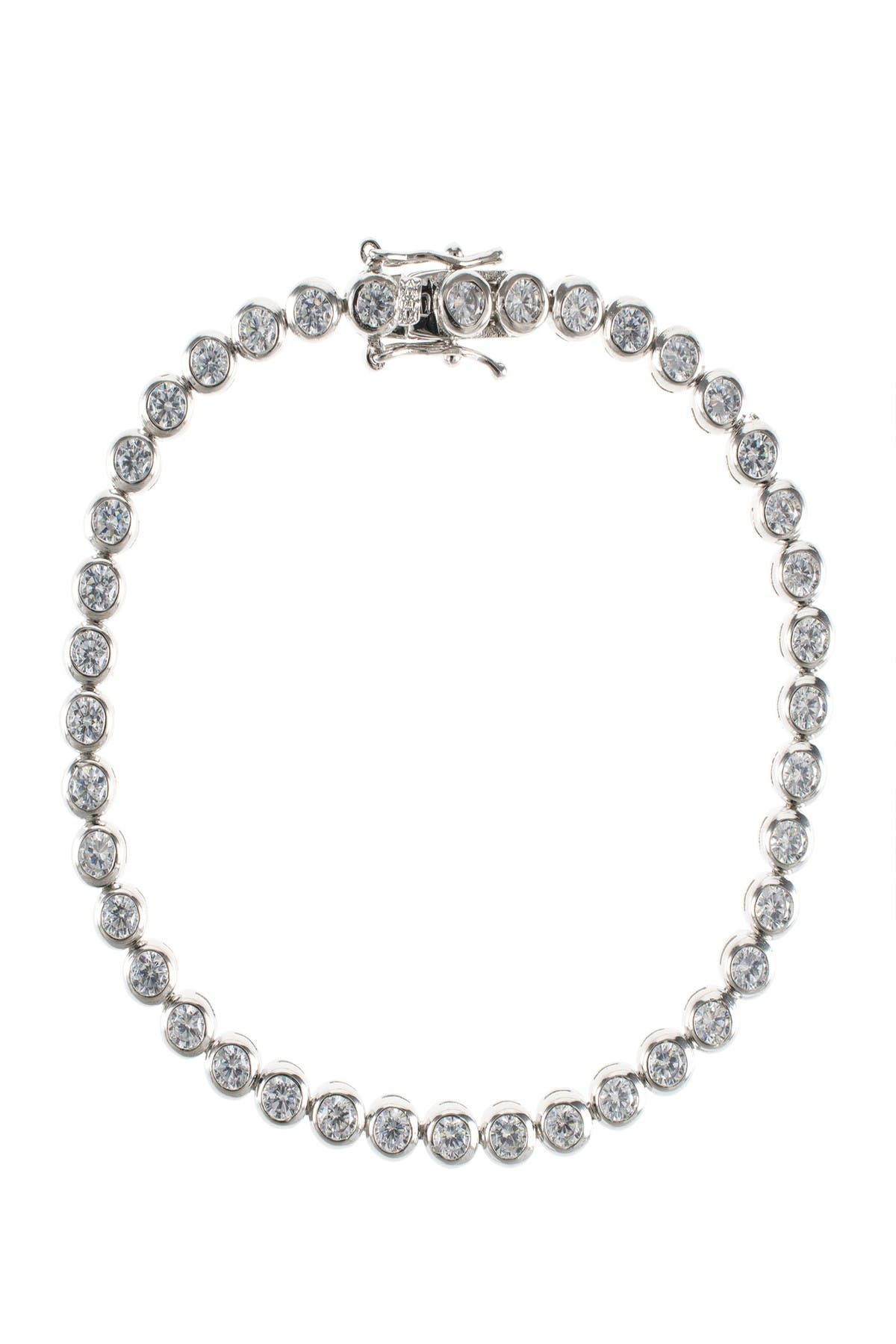 Image of CZ By Kenneth Jay Lane Round CZ Tennis Bracelet