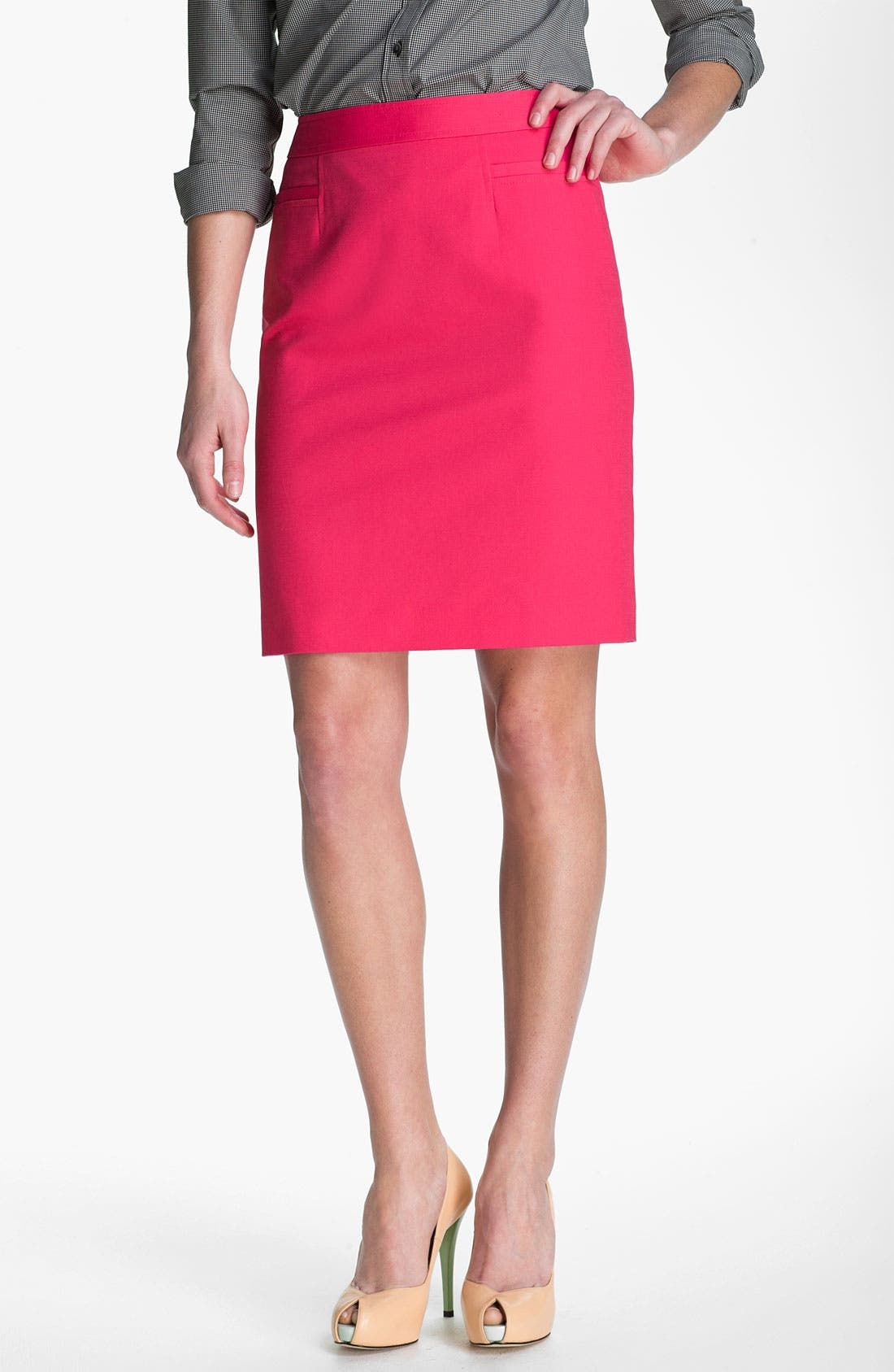 ,                             Stretch Woven Skirt,                             Main thumbnail 32, color,                             650