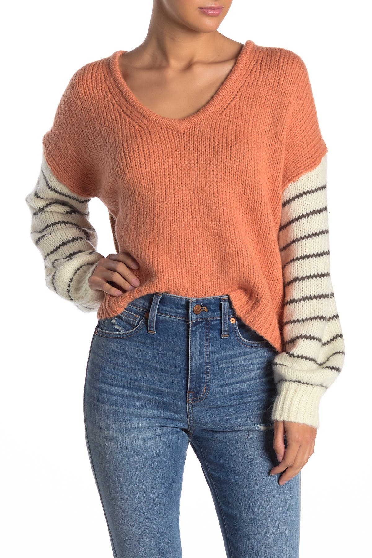 Image of Madewell Balloon Sleeve Pullover Sweater