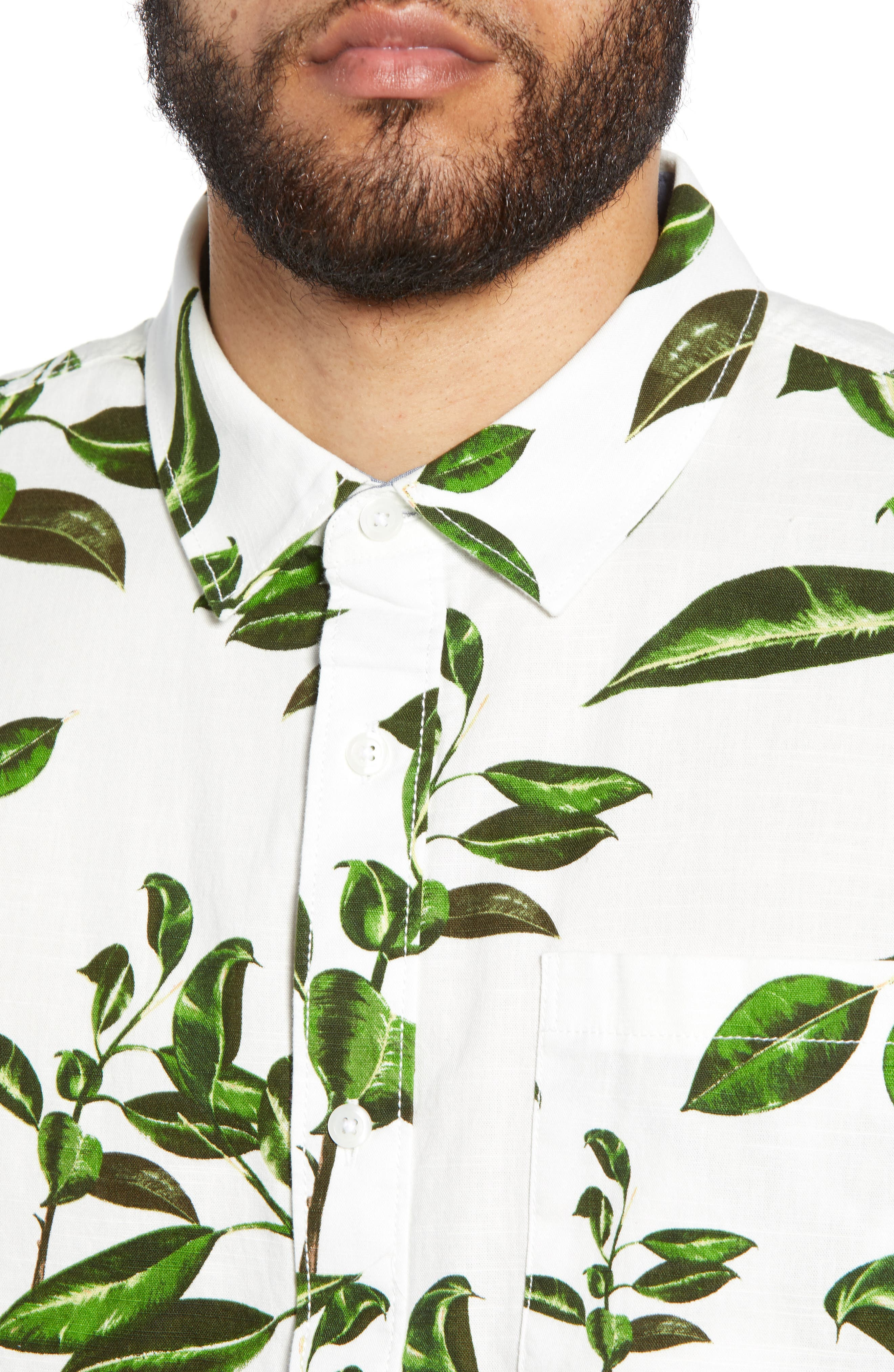 ,                             Rubber Co. Tree Print Woven Shirt,                             Alternate thumbnail 2, color,                             RUBBER FLORAL