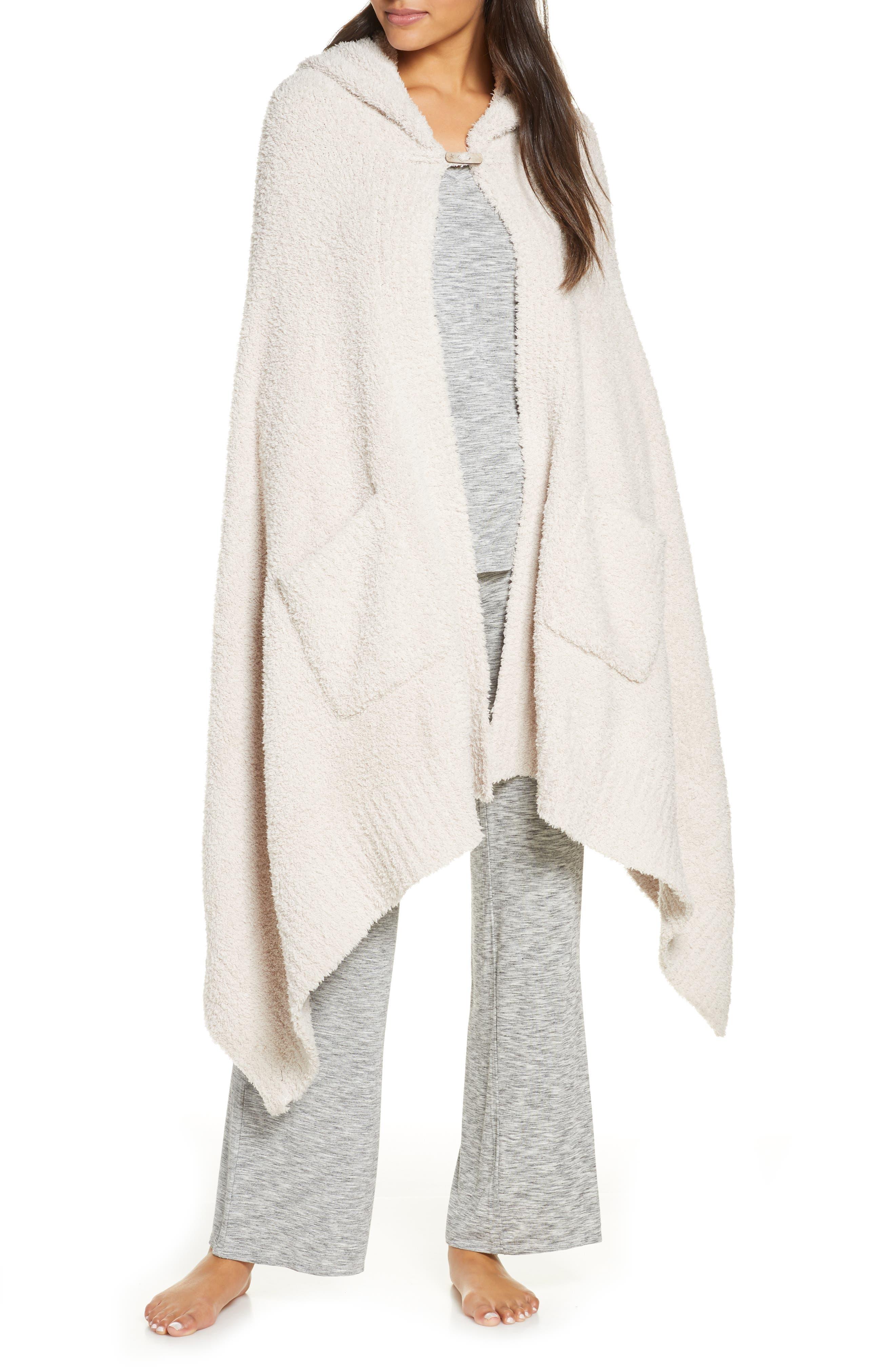 Image of Barefoot Dreams CozyChic Hooded Pocket Shawl