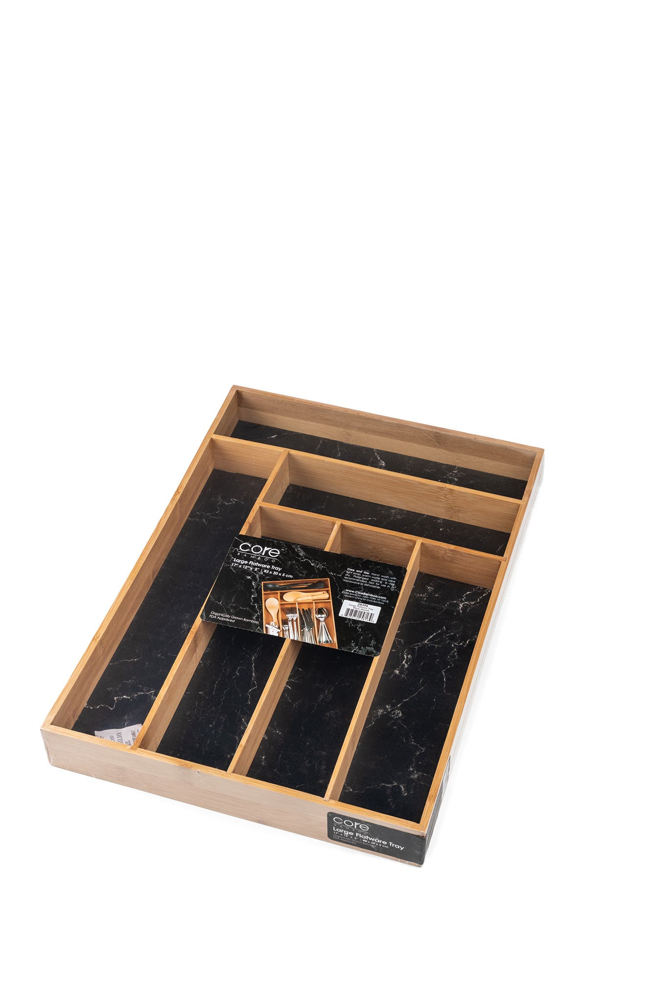 Image of Core Home Large Flatware Tray - Black