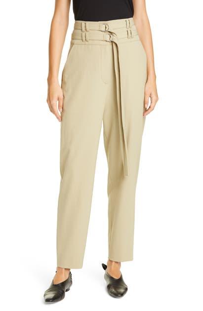 Proenza Schouler Pants DOUBLE BELT HIGH WAIST STRETCH WOOL PANTS