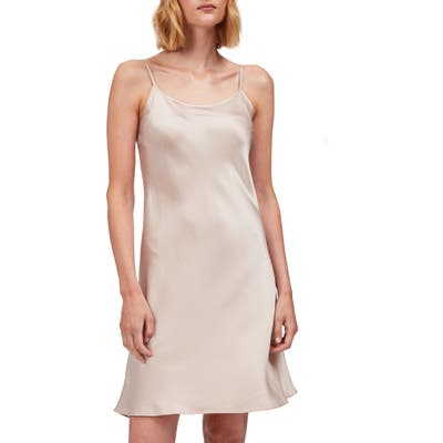 The White Company Sleeveless Silk Nightgown, Pink