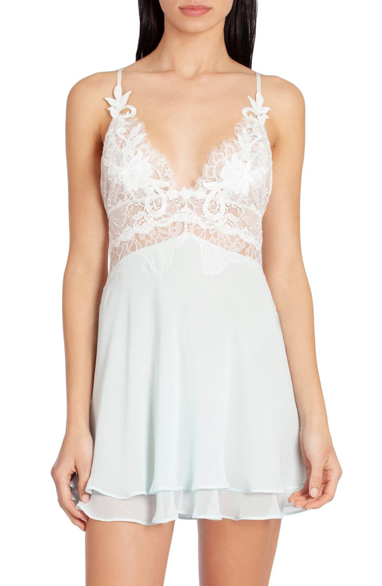 JONQUIL Stephanie Chiffon Chemise, Main, color, PALE AQUA