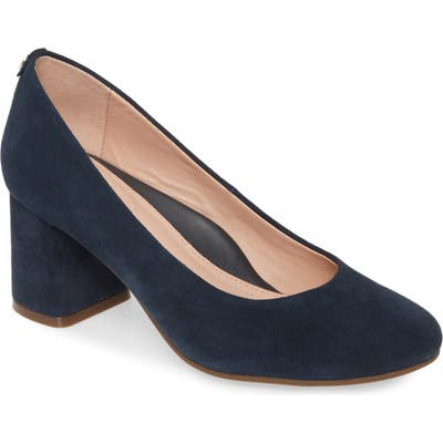 Taryn Rose Ricki Block Heel Pump- Blue