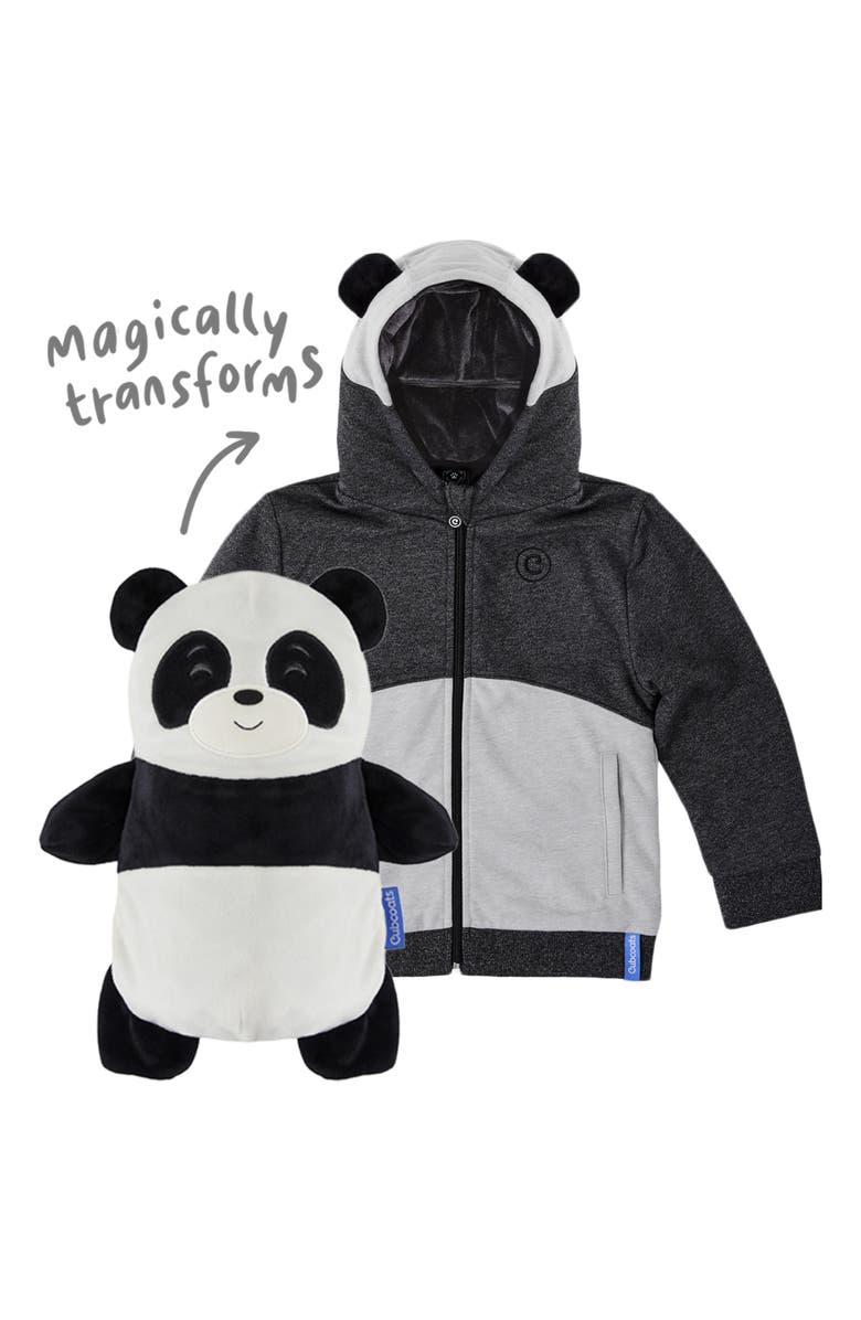 CUBCOATS Papo 2-in-1 Stuffed Animal Hoodie, Main, color, BLACK MARL MIX