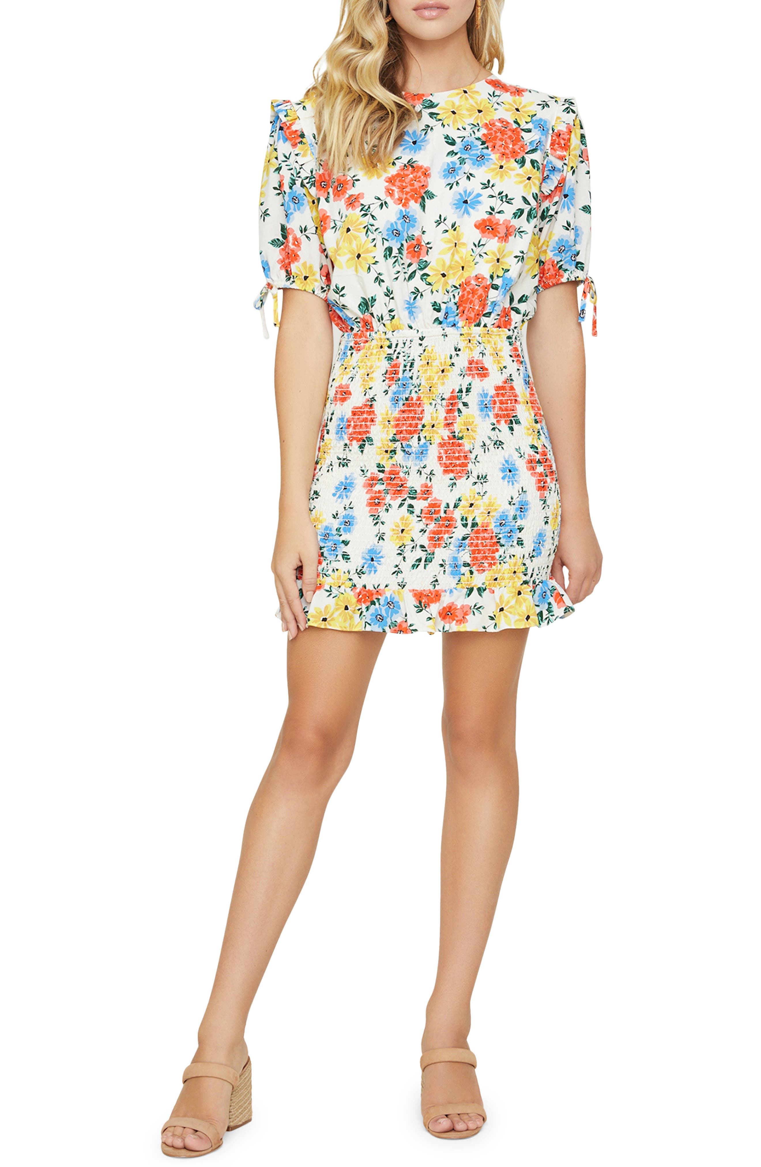 Women's Lost + Wander Center Of Attention Floral Minidress