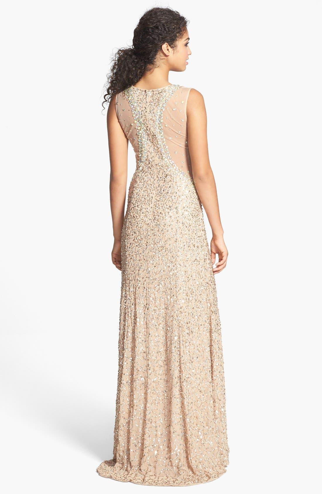 ,                             Embellished V-Neck Gown,                             Alternate thumbnail 2, color,                             220