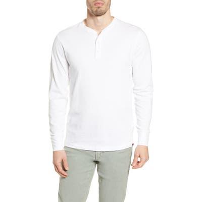 Faherty Long Sleeve Organic Cotton Henley, White
