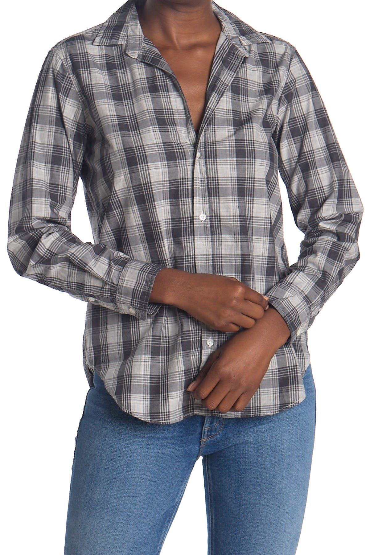 Image of FRANK & EILEEN Frank Plaid Tailored Fit Tunic Shirt