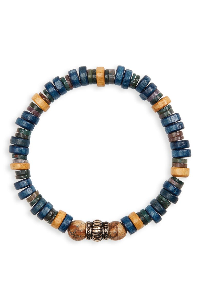 NORDSTROM MEN'S SHOP Wood Bead Bracelet, Main, color, 230
