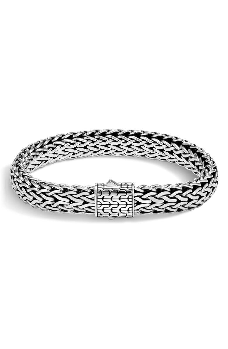 JOHN HARDY Men's Classic Chain Large Flat Chain Bracelet, Main, color, SILVER