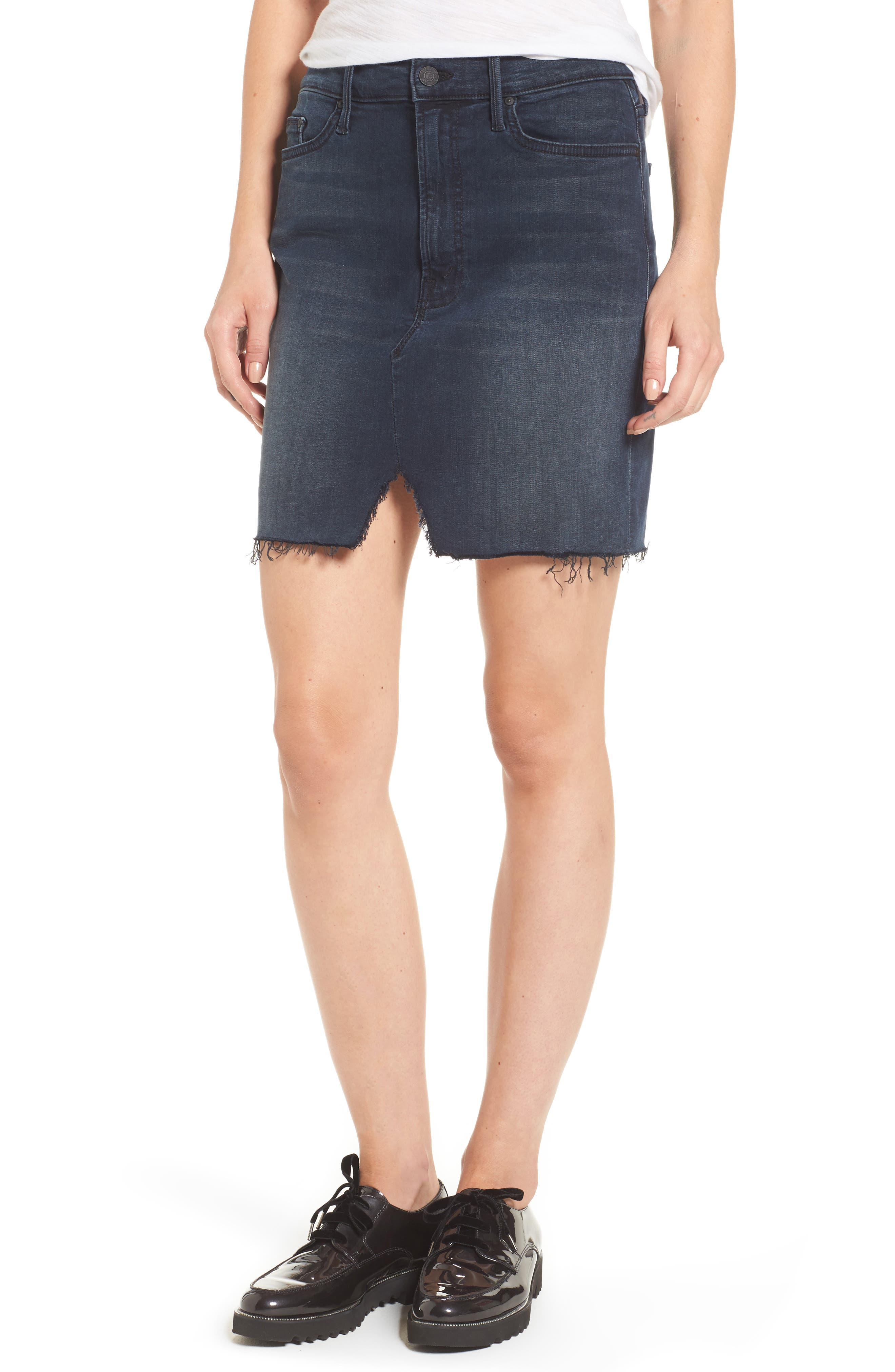 Image of MOTHER The Sacred Slit Denim Mini Skirt