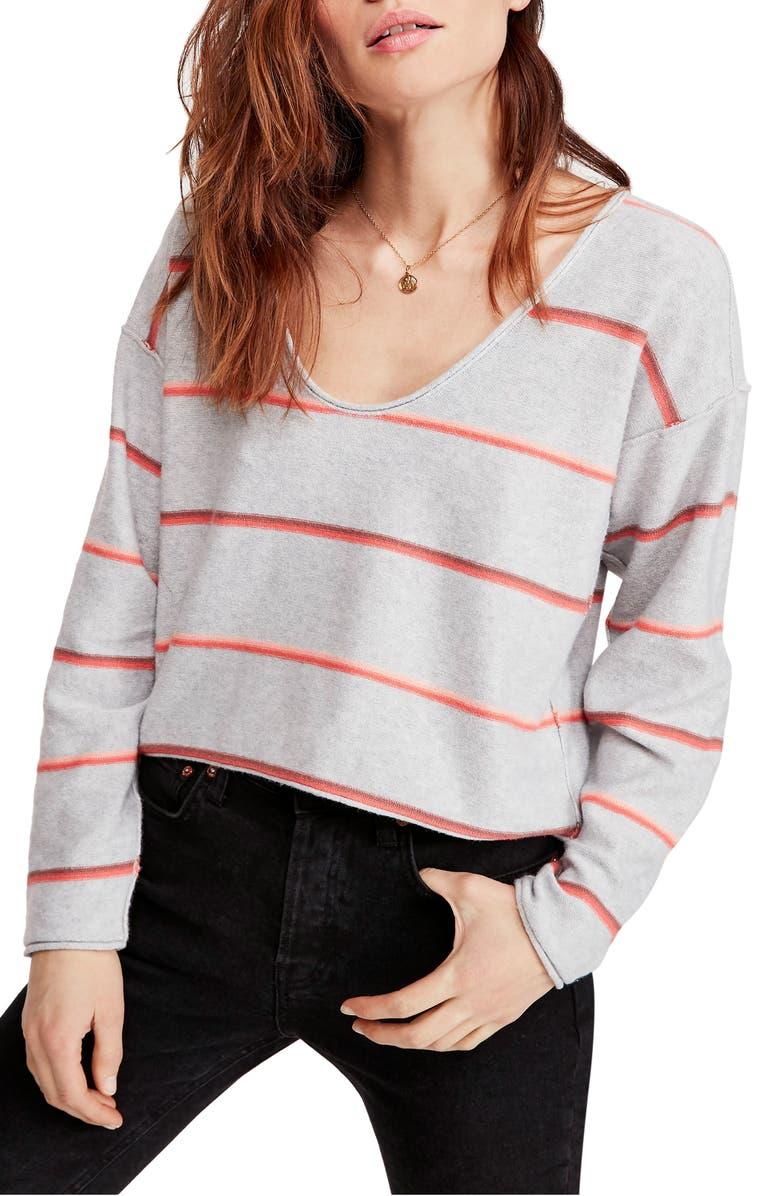 FREE PEOPLE Make You Mine Stripe Sweater, Main, color, 020