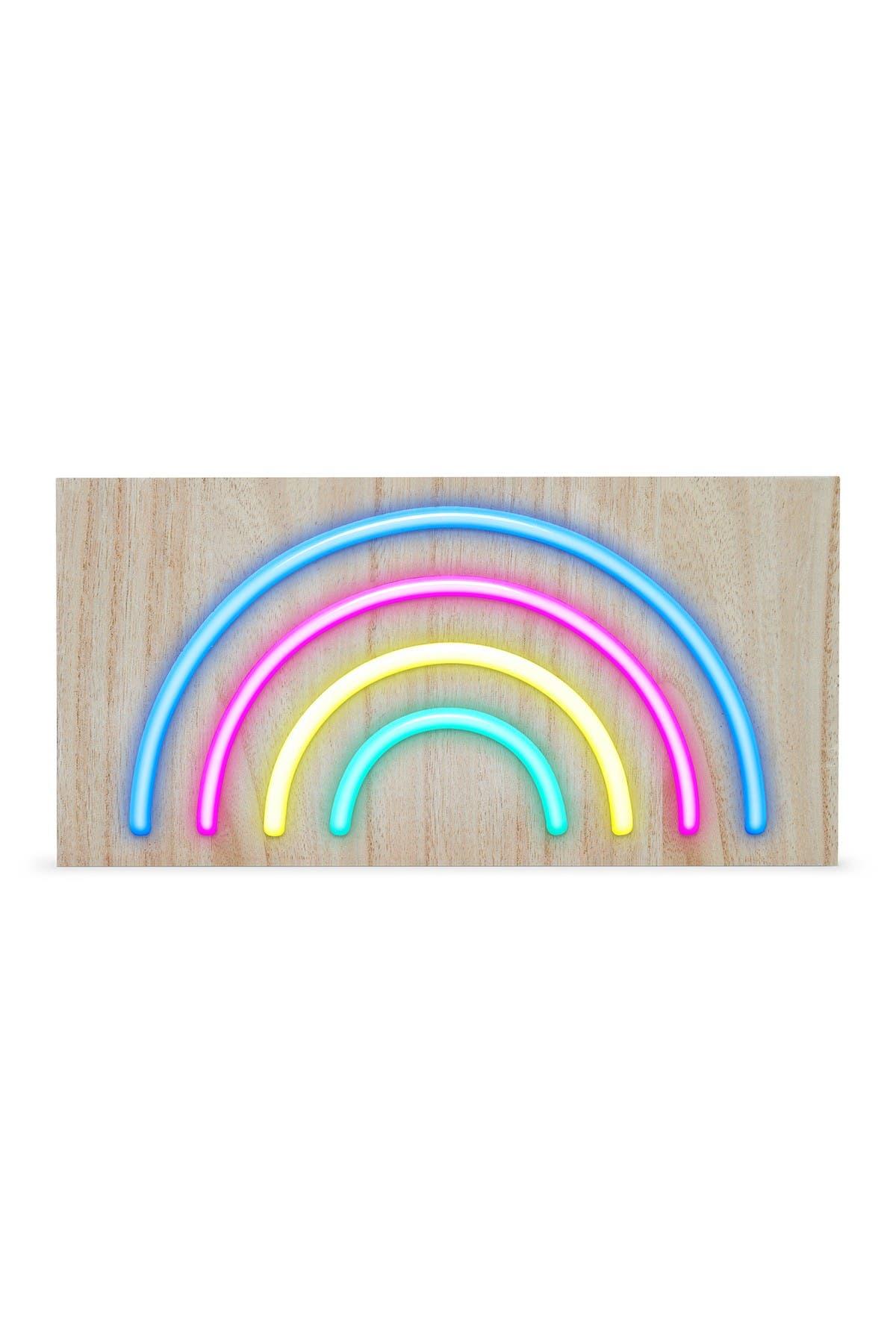 """Image of ARGENTO SC 11.8"""" LED Rainbow Icon on Wood Board"""