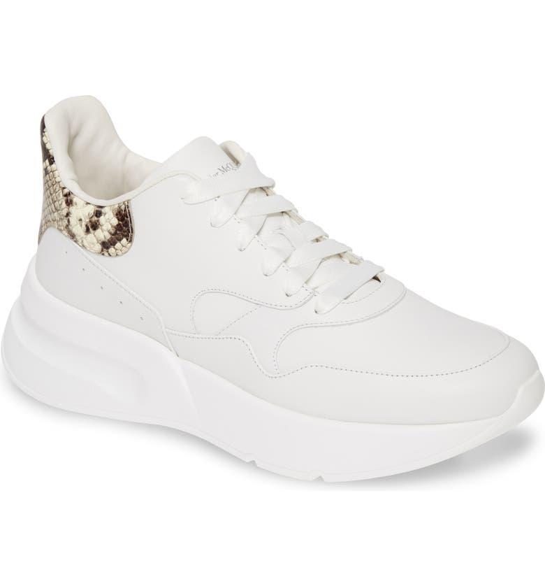 ALEXANDER MCQUEEN Oversize Runner Sneaker, Main, color, WHITE/ NATURAL