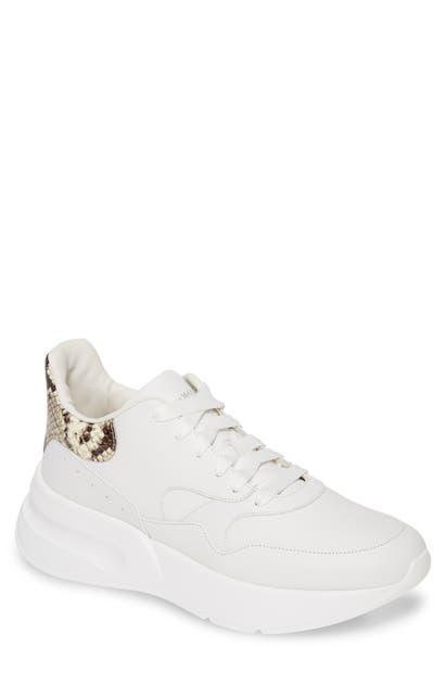 Alexander Mcqueen Oversize Runner Sneaker In White/ Natural