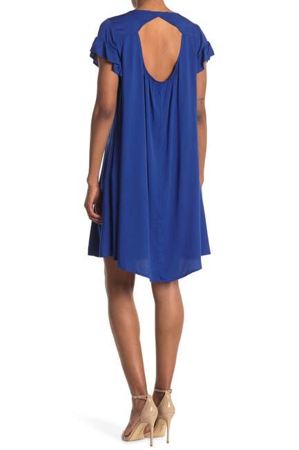 Image of TASH + SOPHIE Ruffle Sleeve Casual Dress