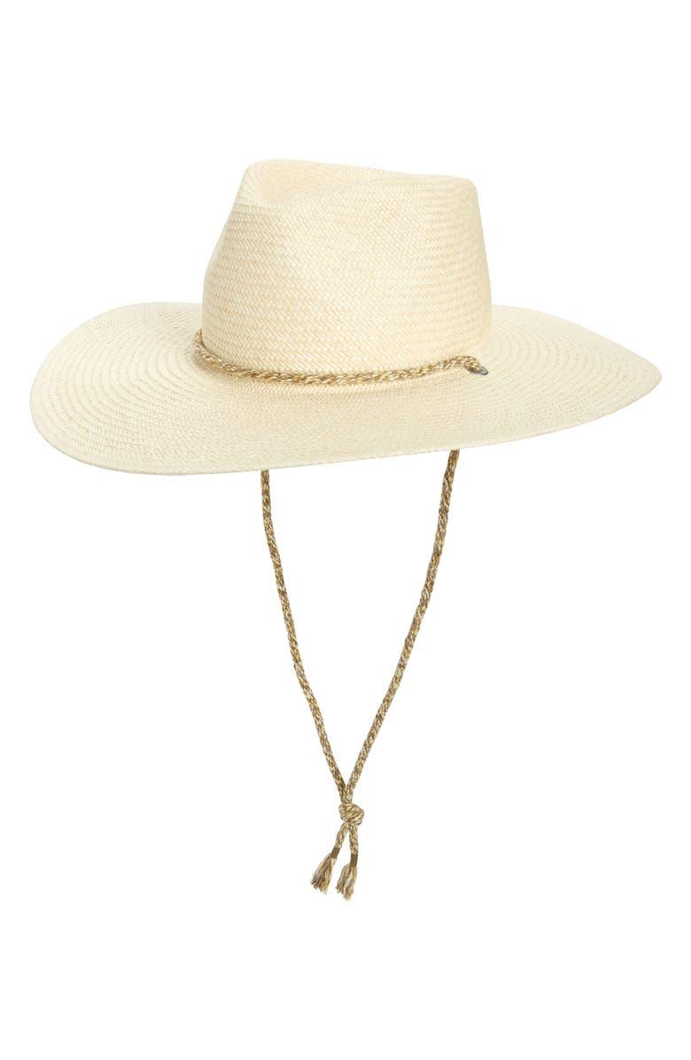 RAG & BONE Wide Brim Panama Hat, Main, color, NATURAL