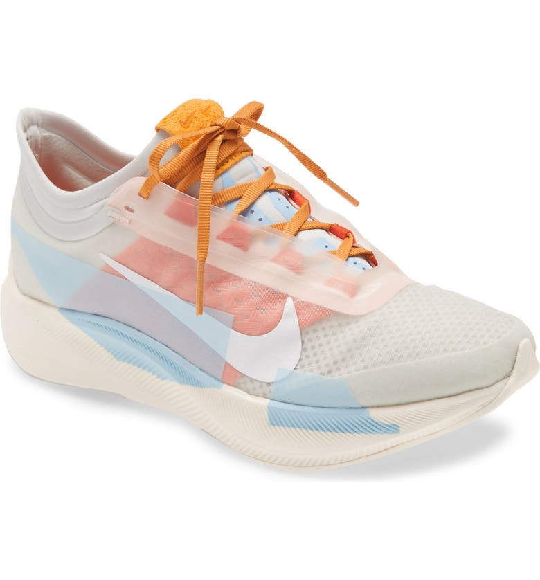 NIKE Zoom Fly 3 Premium Running Shoe, Main, color, PHOTON DUST/ WHITE/ ORANGE