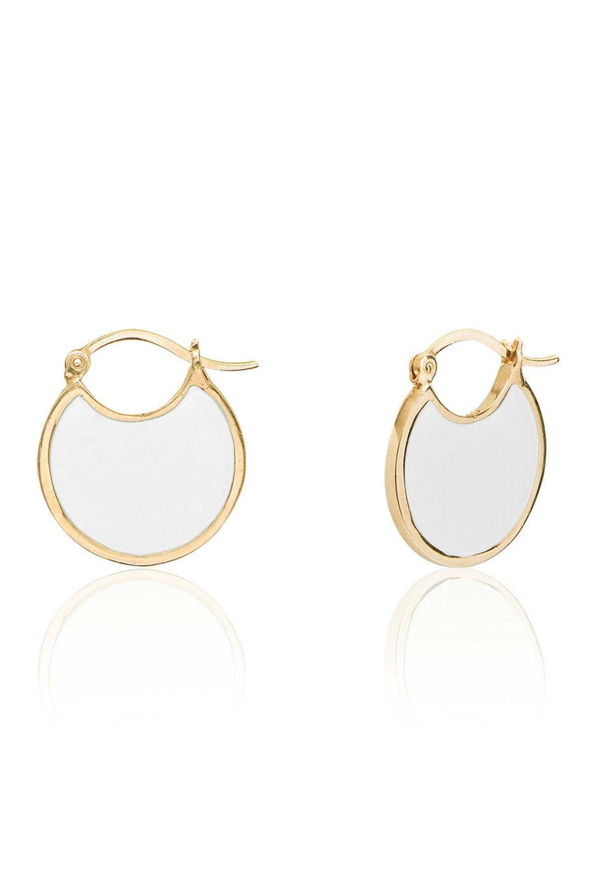 Gold vermeil disc earrings