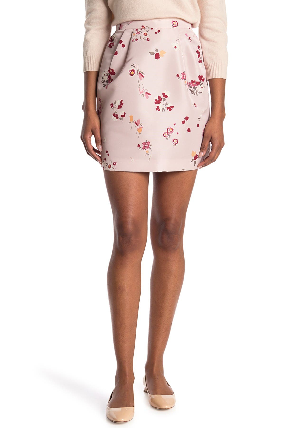 Image of RED Valentino Floral Print Skirt