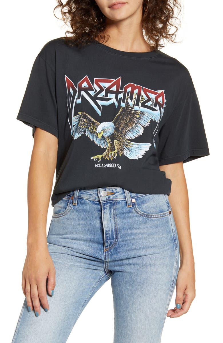 DAY Eagle Graphic Boyfriend Tee, Main, color, ASH