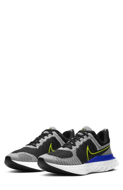 Nike React Infinity Run Flyknit 2 Men's Running Shoe In White/ Black/ Blue/ Cyber
