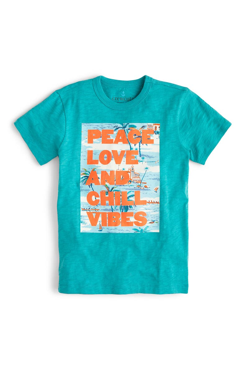 CREWCUTS BY J.CREW Chill Vibes T-Shirt, Main, color, SEASHORE MULTI
