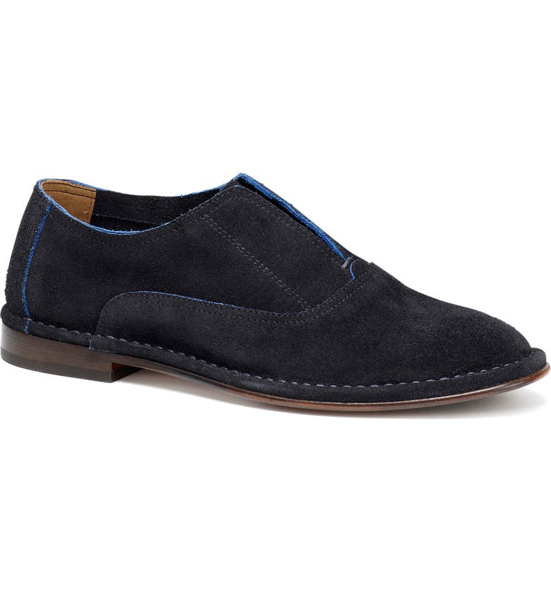 TRASK Avery Loafer, Main, color, NAVY SUEDE